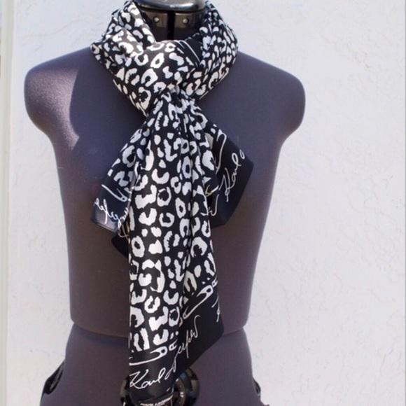 leopardo bufanda Karl Lagerfeld estampado de clásico con qSnfBwZP